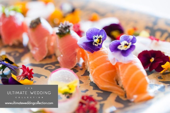 Gourmet Sushi for Ultimate Wedding Collection La Valencia Hotel